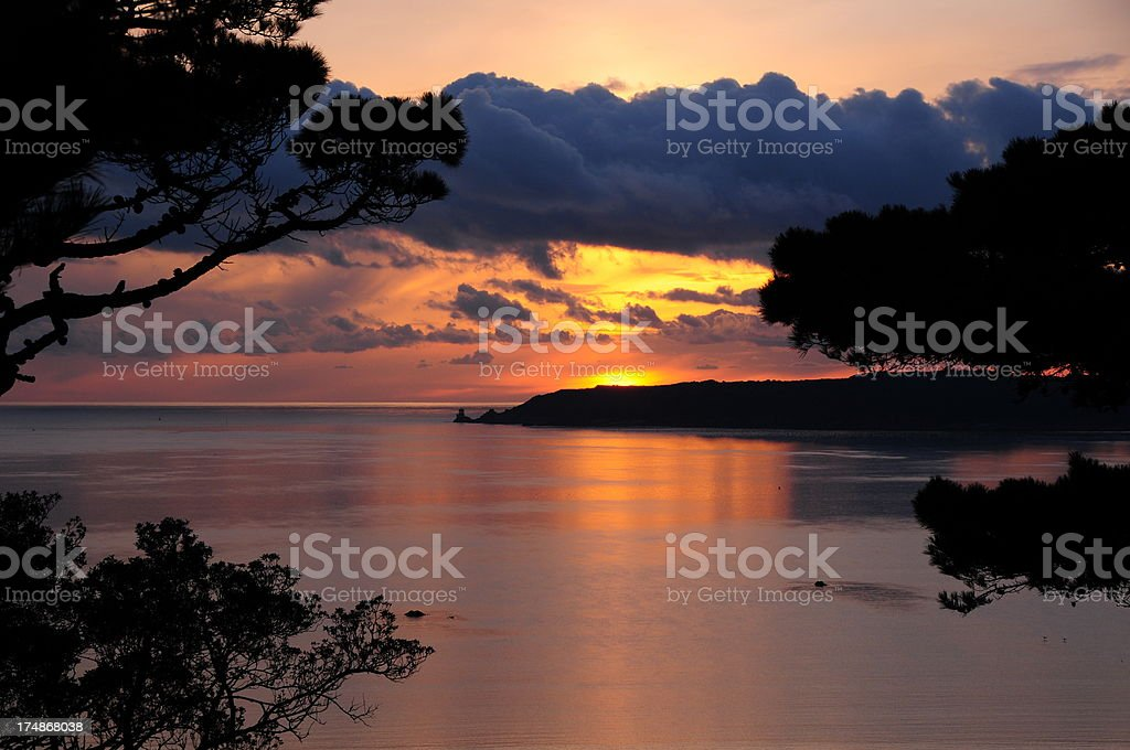 St.Aubin Bay, Jersey. royalty-free stock photo