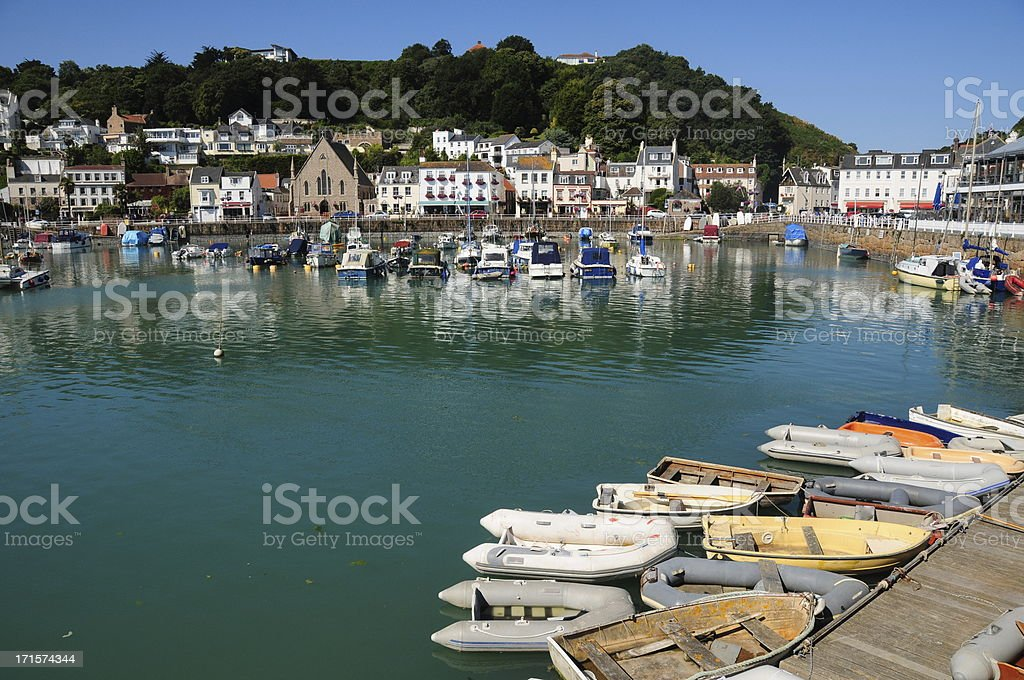 St.Aubin harbour, Jersey stock photo