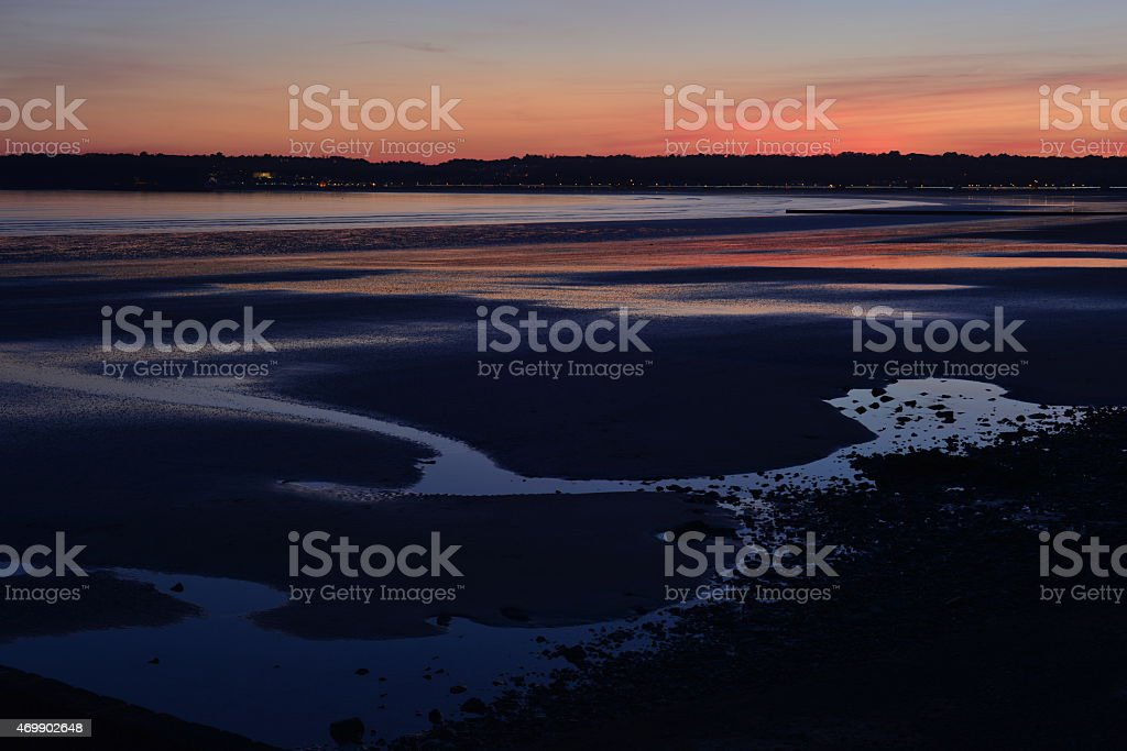 St.Aubin's Bay, Jersey, U.K. stock photo