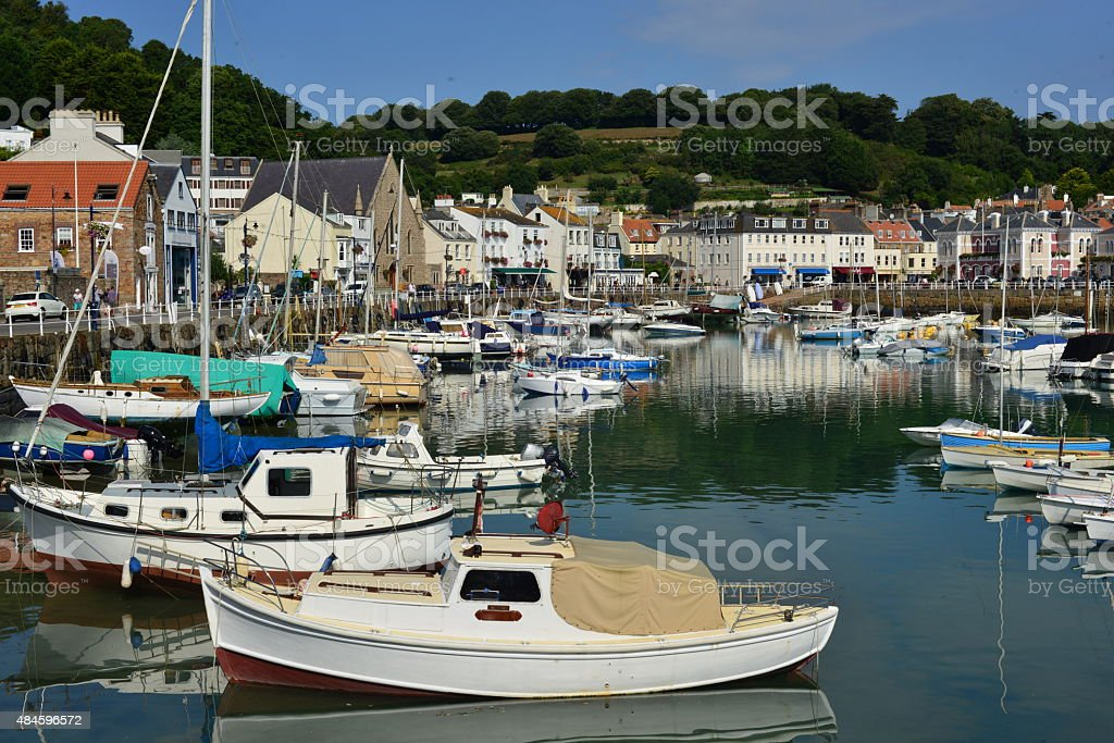 St.Aubin's Harbour, Jersey, U.K. stock photo