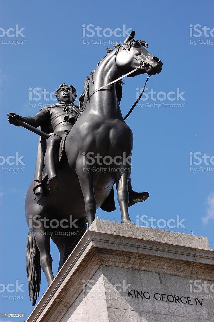 staue of horse and men stock photo