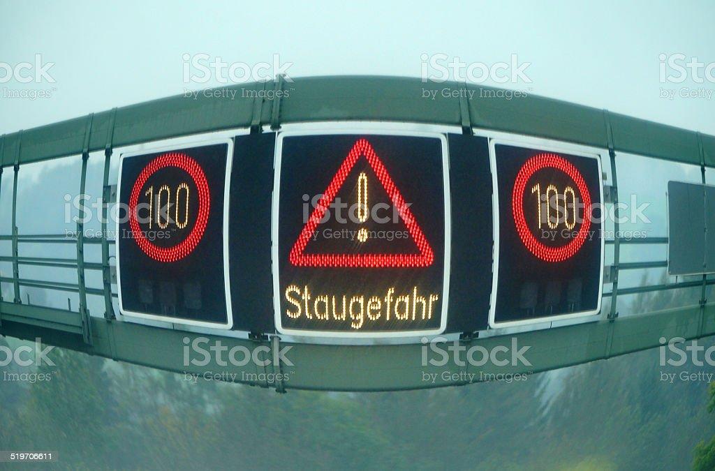 Staugefahr stock photo