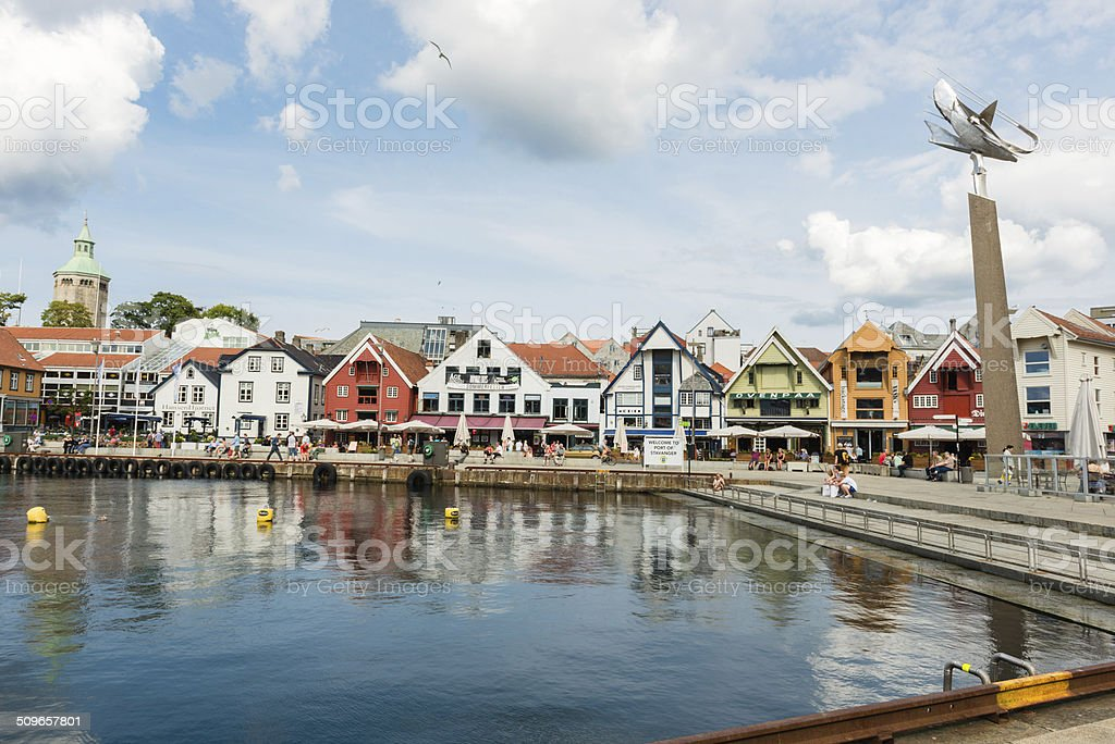 Stavanger city center stock photo