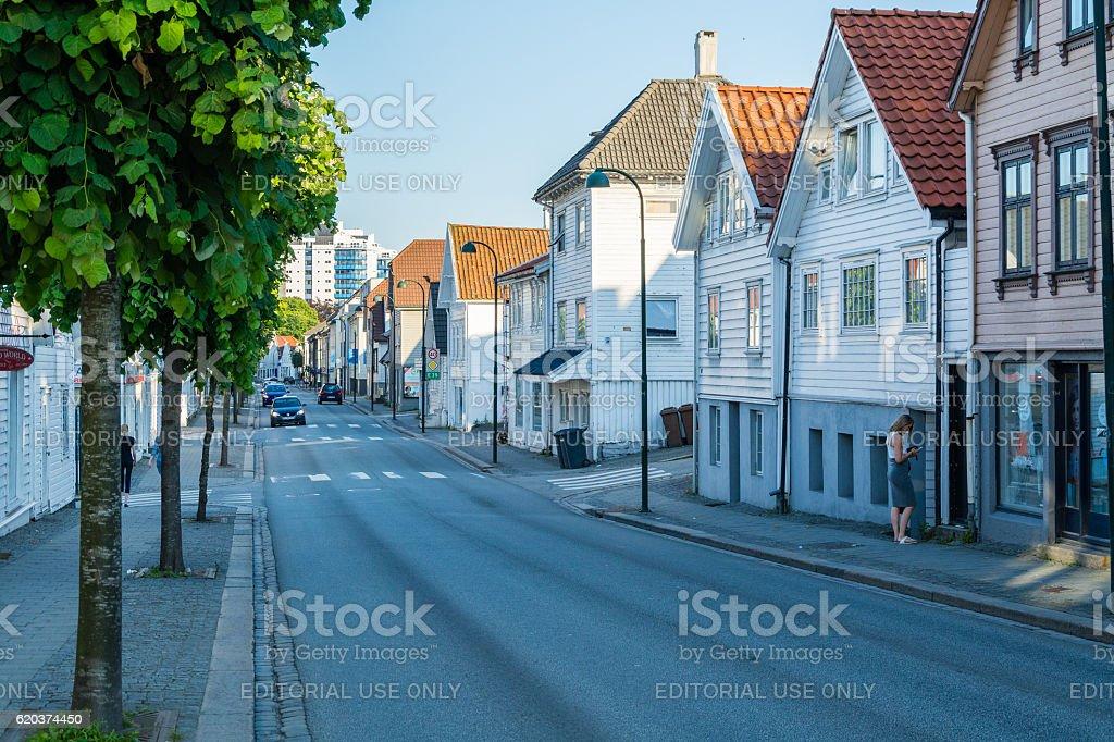 Stavanger city center zbiór zdjęć royalty-free