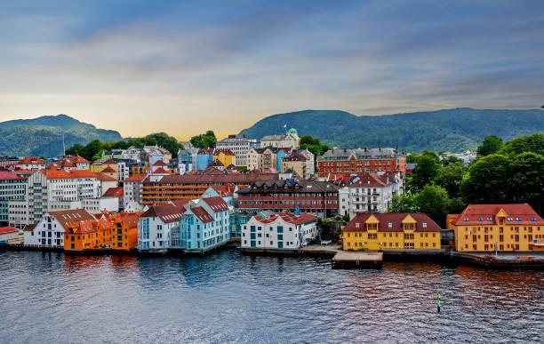 Stavanger, Norwegen, Meerblick auf die Stadt. – Foto