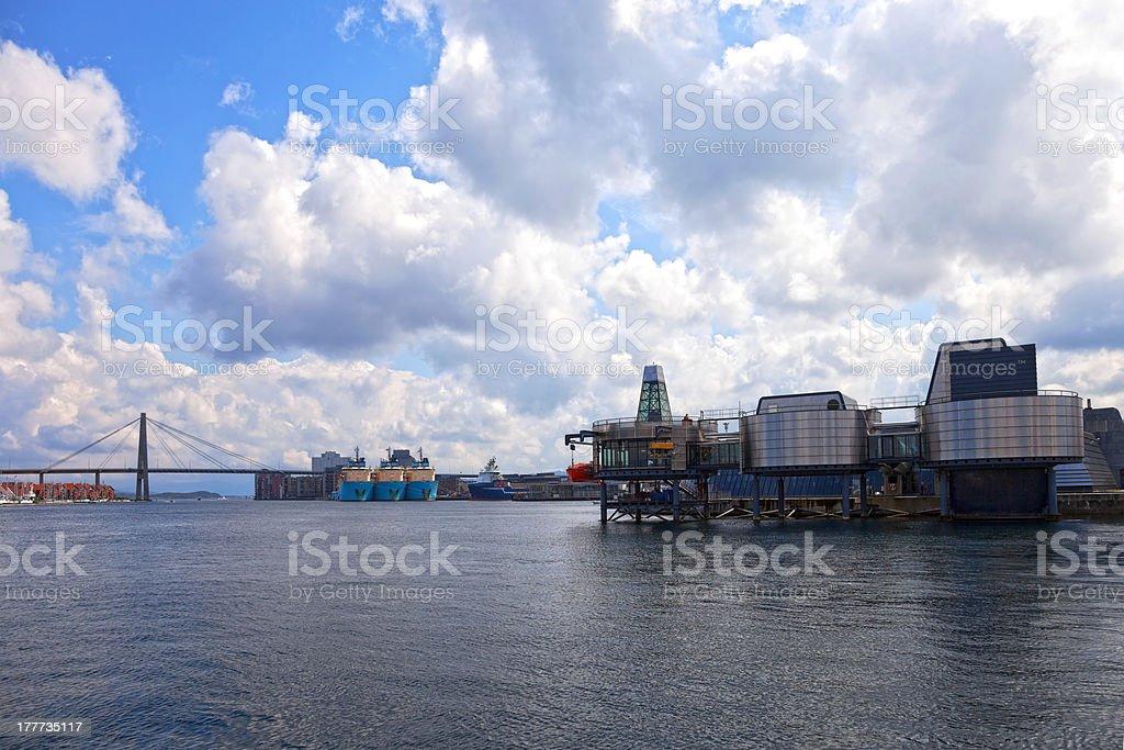 Stavanger panorama royalty-free stock photo