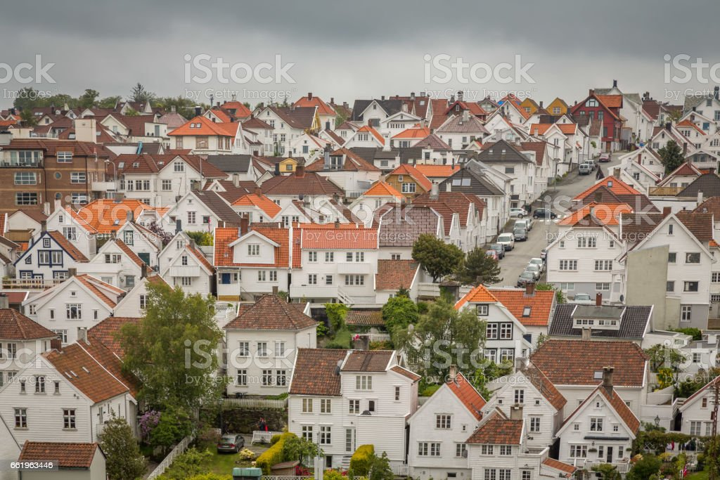 Stavanger View of the City stock photo