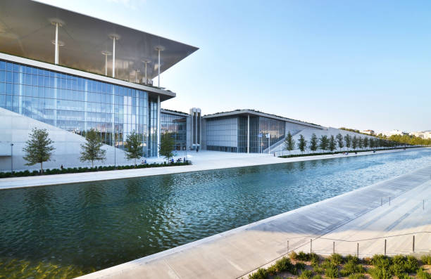 Stavros Niarchos foundation cultural center - the building of National opera Greece stock photo