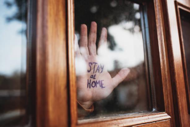 Stay at home - Coronavirus Pandemic 2020 stock photo