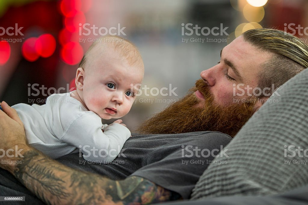 Stay at Home Dad stock photo