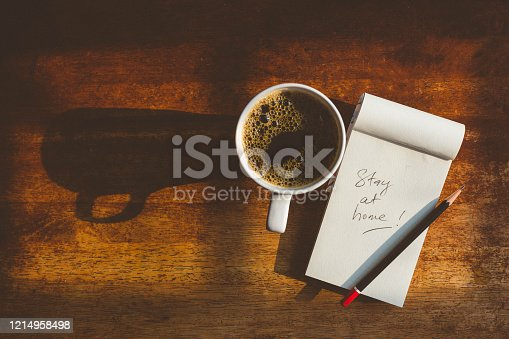 Image of notepad with message