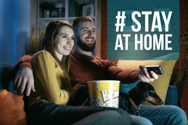 Bleiben Sie zu Hause Social-Media-Sensibilisierungskampagne für Coronavirus Prävention – Foto