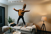 istock Stay home during pandemic - dancing and physical activity 1215536761