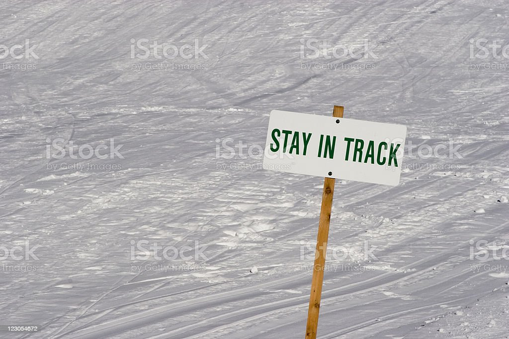 Stay in Track royalty-free stock photo