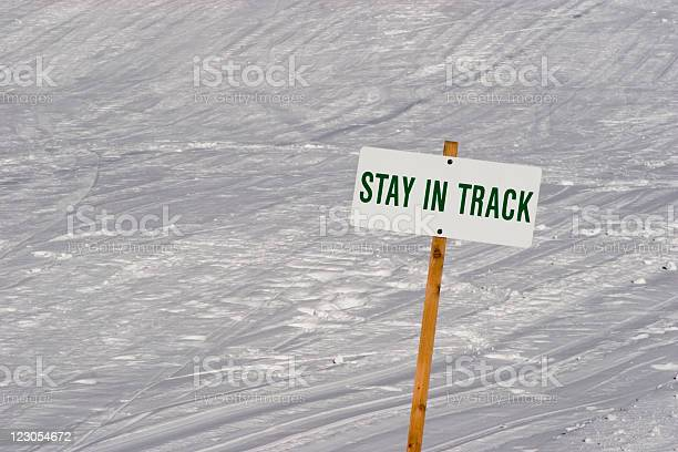 Stay In Track Stock Photo - Download Image Now