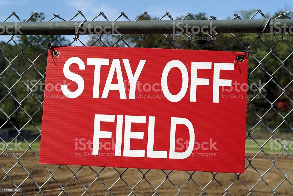 Aufenthalt Sie Field Lizenzfreies stock-foto