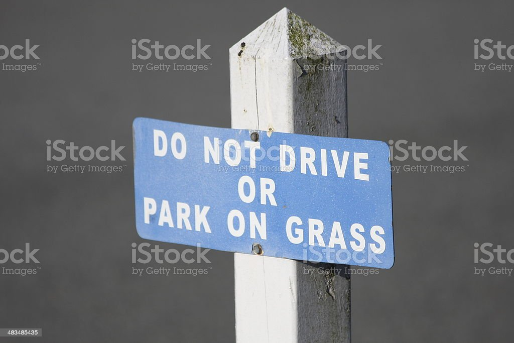 Stay Off The Grass stock photo
