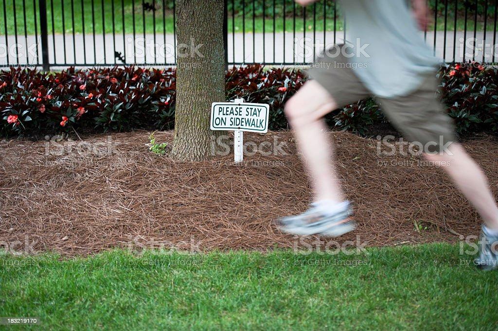 Stay on Sidewalk stock photo