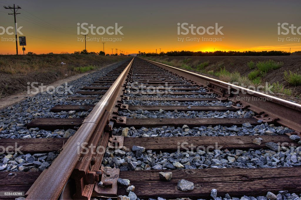 Stay on track stock photo
