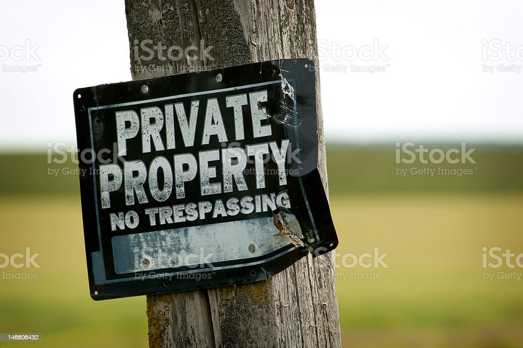 Stay Out royalty-free stock photo
