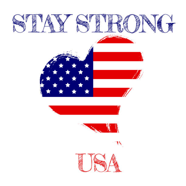 Stay strong Usa. stock photo