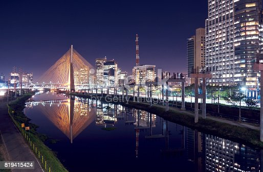 istock Stayed bridge in Sao Paulo, Brazil. 819415424