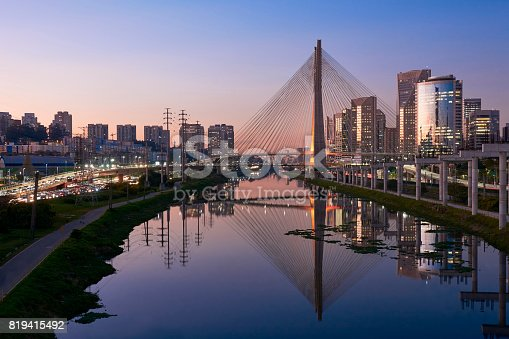 istock Stayed bridge in Sao Paulo, Brazil. 819415492