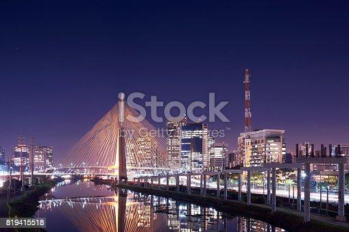 istock Stayed bridge in Sao Paulo, Brazil. 819415518