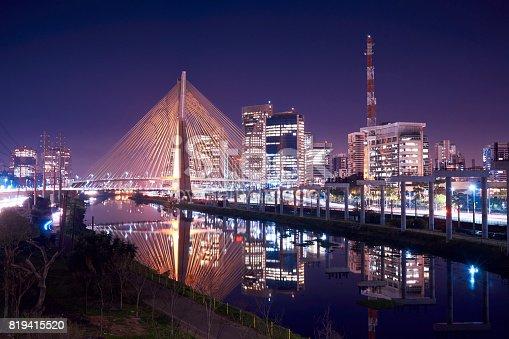 istock Stayed bridge in Sao Paulo, Brazil. 819415520