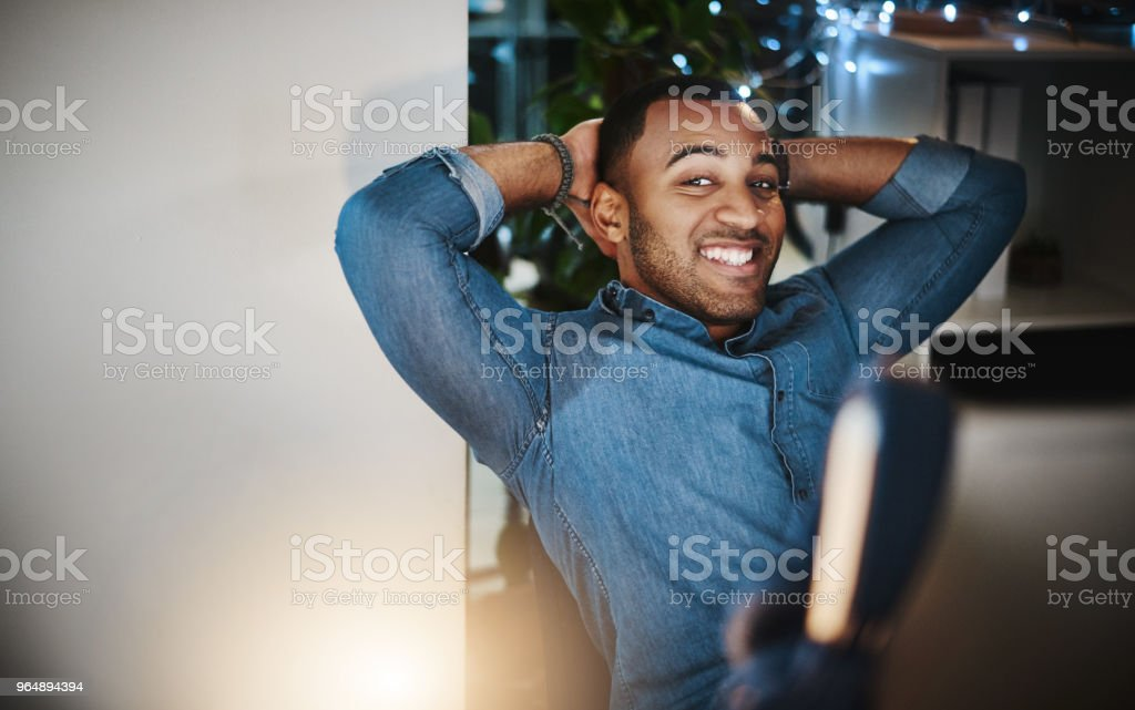 I stayed late for this exact moment royalty-free stock photo