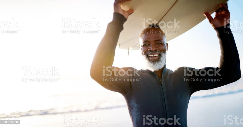 Staying active keeps the spirit young stock photo