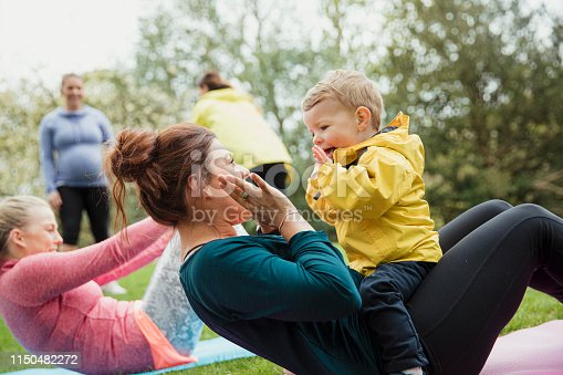 istock Staying Active With Mum 1150482272