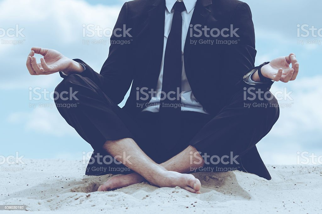 Staying calm. stock photo