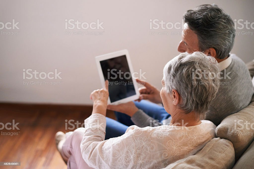 Staying connected to their family stock photo