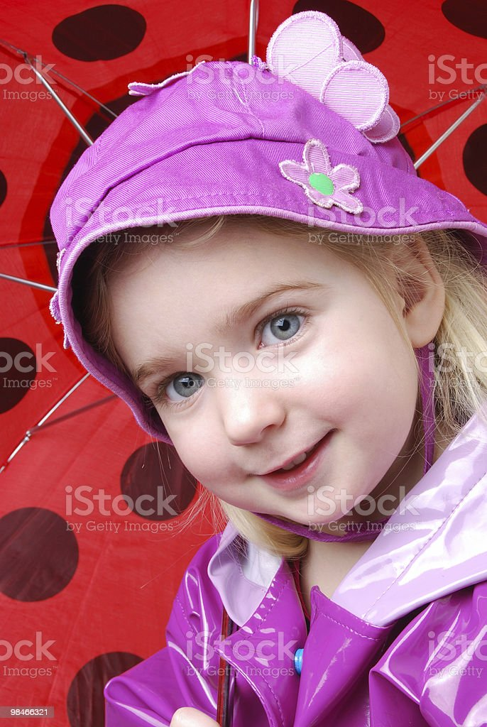 Staying Dry royalty-free stock photo