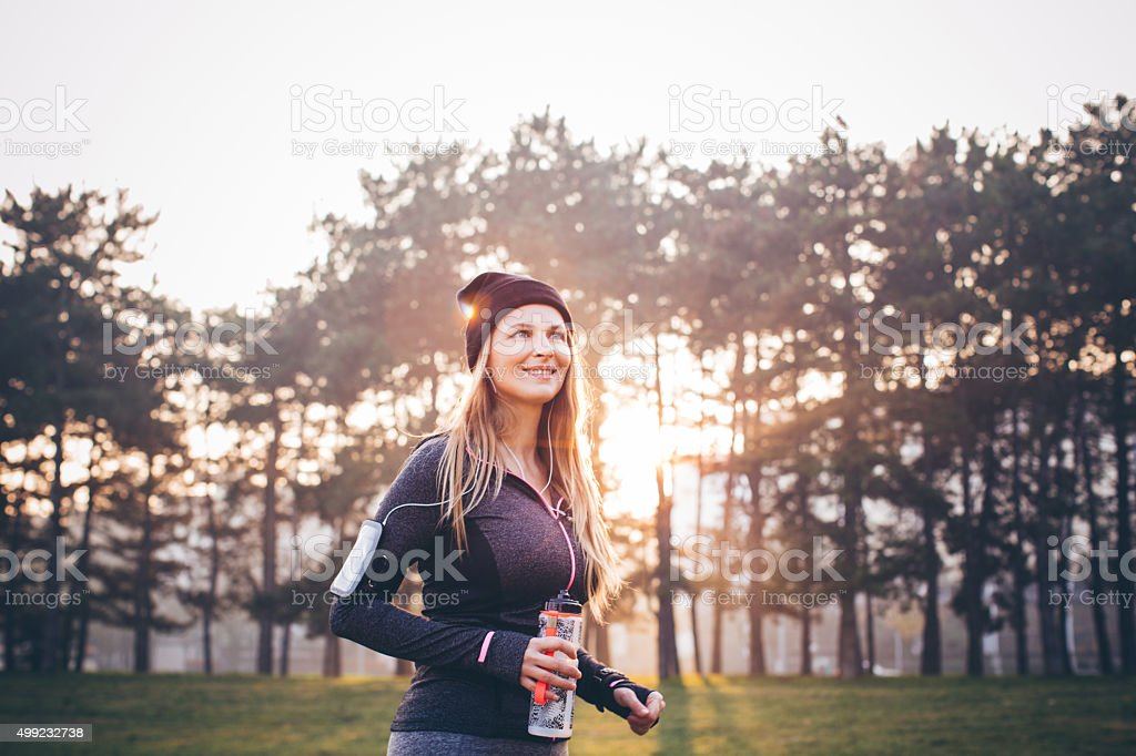 Staying fit and healthy. stock photo