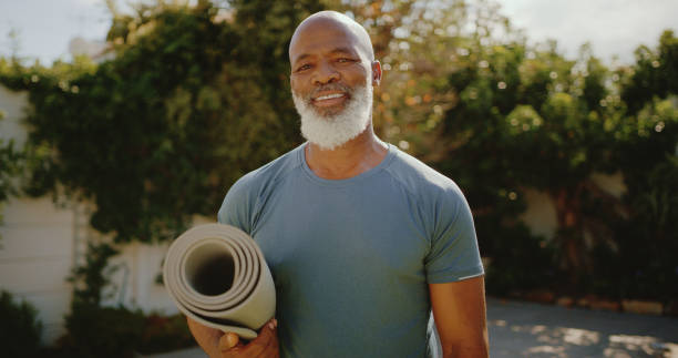 Staying fit is vital to me stock photo