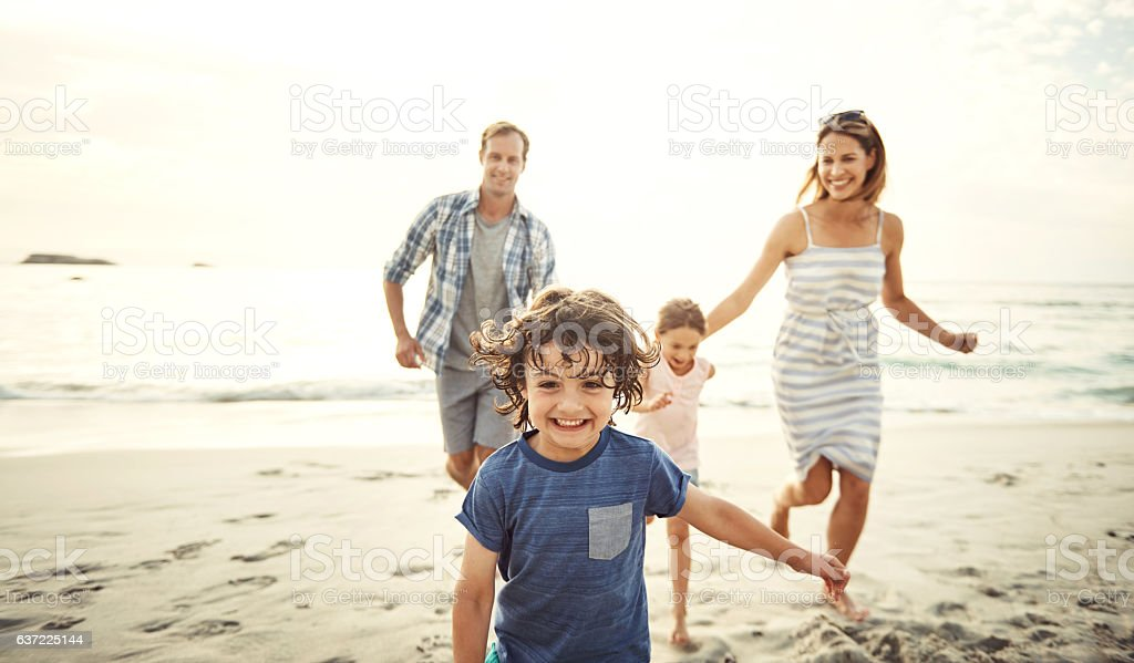 Staying fit through play stock photo