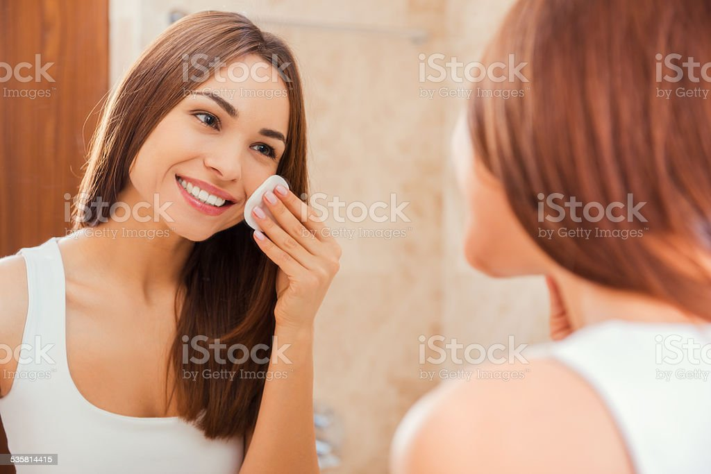 Staying fresh and clean. stock photo