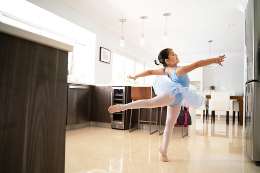 Staying home and practicing ballet