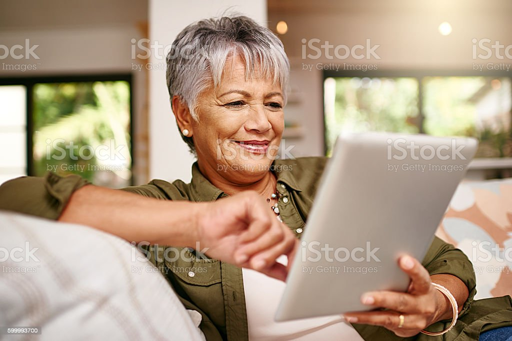 Staying in the the social loop thanks to technology stock photo