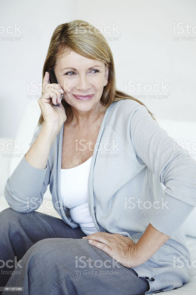 Staying in touch royalty-free stock photo