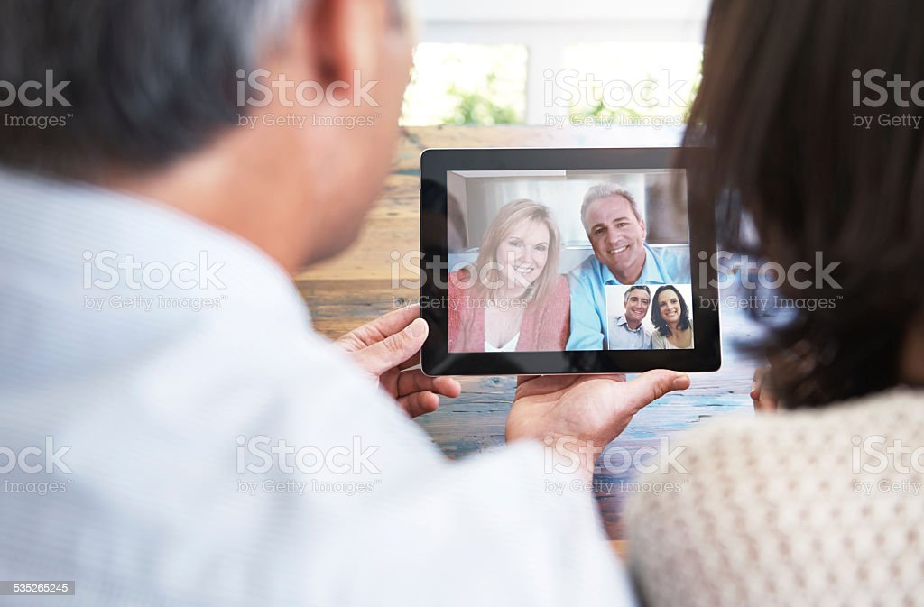 Staying in touch stock photo
