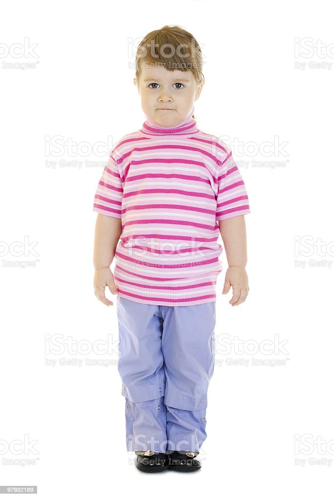 Staying little funny girl royalty-free stock photo
