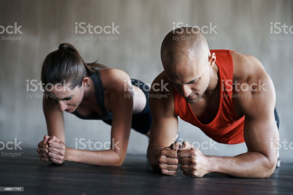 Staying loyal to the goals you set yourself is commitment stock photo