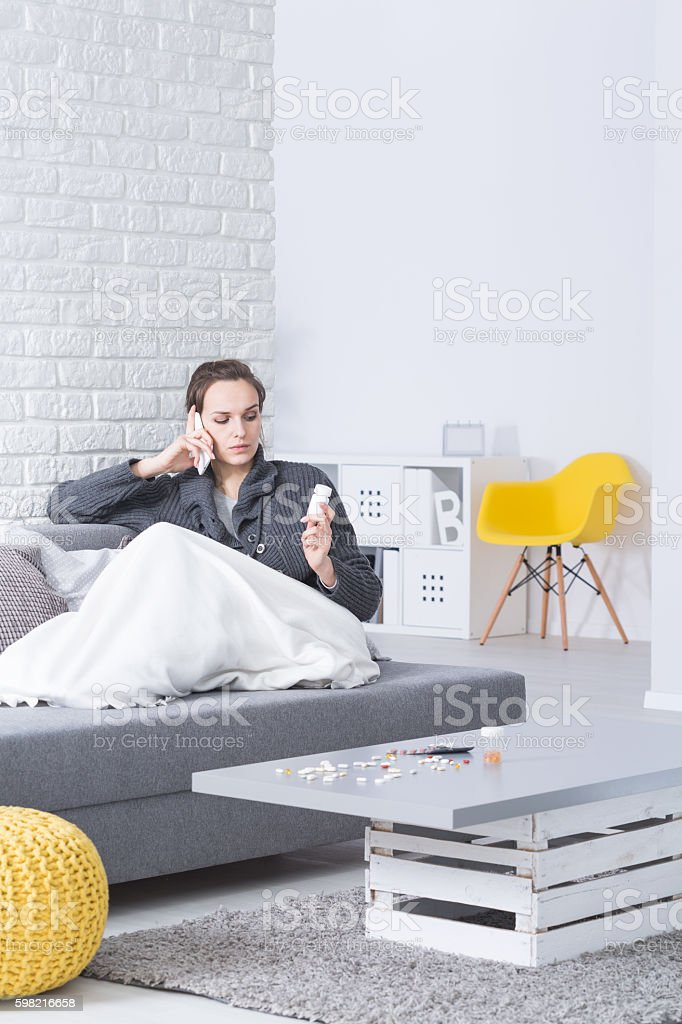 Staying sick at home foto royalty-free