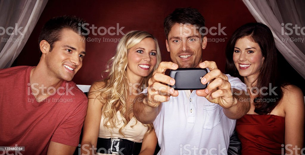 Staying social 24/7 royalty-free stock photo