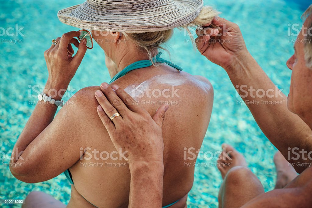 Staying Sun Safe stock photo