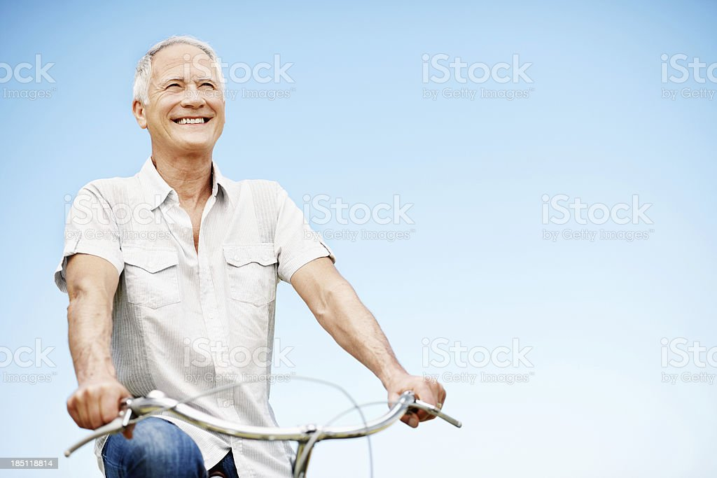 Staying young is all in the mind royalty-free stock photo