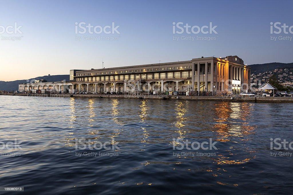 Stazione marittima, Port of Trieste stock photo